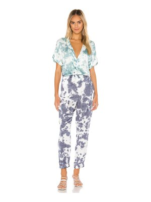 Chaser short sleeve rolled cuff jumpsuit