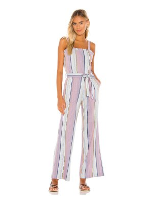 Chaser smocked ruffle cami jumpsuit