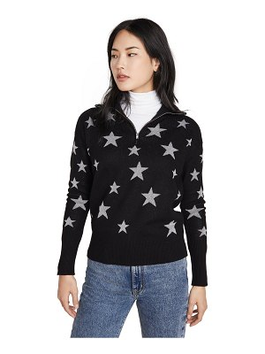 Chaser star intarsia drop shoulder funnel neck pullover