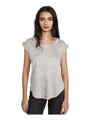 Chaser twisted sleeve scoop neck tee