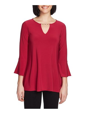 Chaus bell sleeve keyhole top