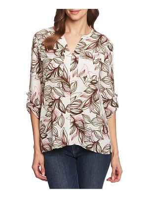 Chaus canyon roll tab two-pocket blouse