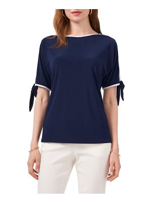 Chaus cold shoulder tie sleeve top