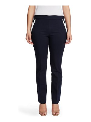 Chaus contrast pocket pull-on cotton blend pants