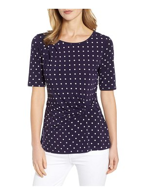 Chaus dot side knot top