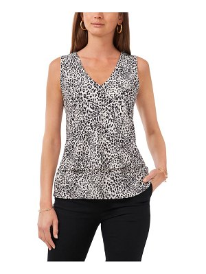 Chaus double layer sleeveless top