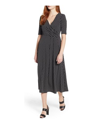Chaus garden dot midi dress