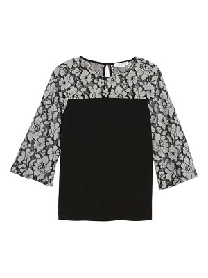Chaus lace sleeve jersey top