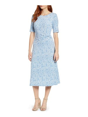 Chaus palm groves ruched midi dress