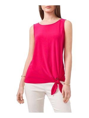 Chaus sleeveless tie front top