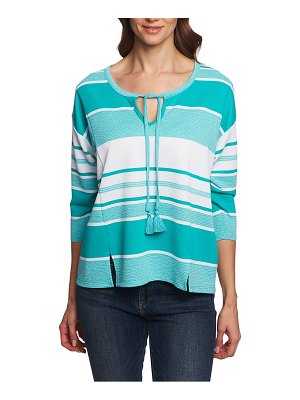 Chaus stripe french terry top