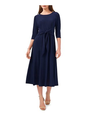 Chaus tie front fit & flare midi dress