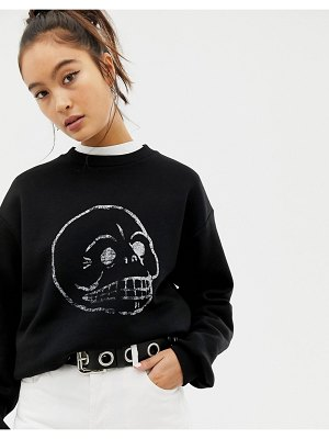 Cheap Monday faded skull sweatshirt with organic cotton