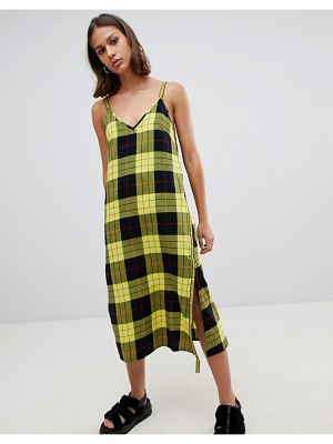 Cheap Monday keep plaid wrap slip dress