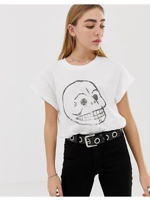 Cheap Monday organic cotton t-shirt with faded skull