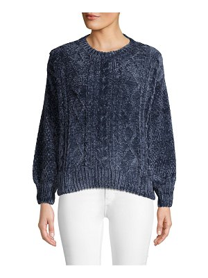 Chelsea & Theodore Chenille Cable Knit Sweater