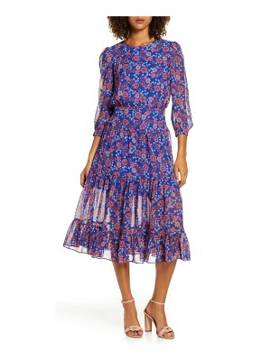 Chelsea28 floral fit & flare midi dress