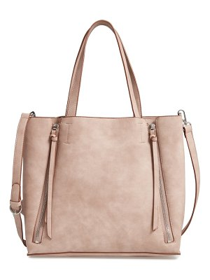 Chelsea28 leigh convertible zipper faux leather tote