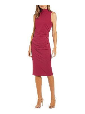 Chelsea28 mock neck sheath dress