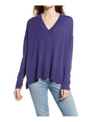 Chelsea28 oversize v-neck high/low sweater