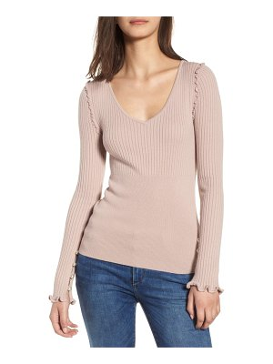 Chelsea28 pearly bead detail sweater
