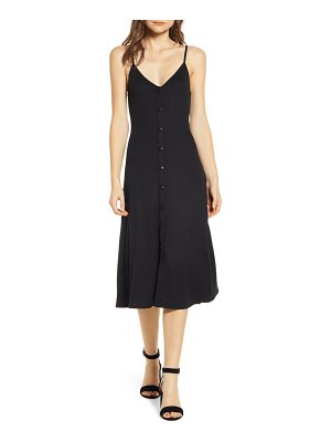 Chelsea28 ribbed button front dress