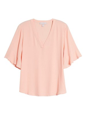 Chelsea28 ruffle sleeve v-neck top