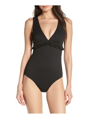 Chelsea28 ruffle trim one-piece swimsuit