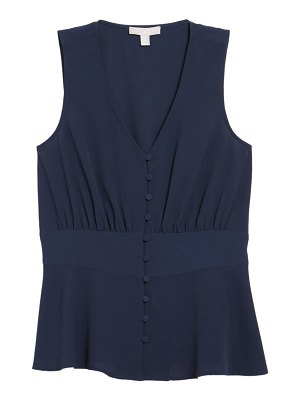 Chelsea28 sleeveless button top