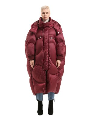 CHENPENG Oversized puffer long down jacket
