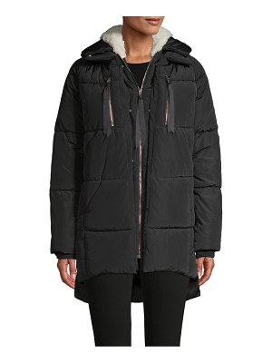 Chert Quilted Faux Fur-Lined Puff Coat