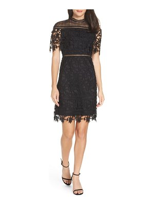 Chi Chi London adita crochet lace cocktail dress