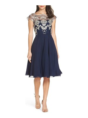 Chi Chi London baroque lace overlay party dress