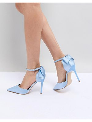 Chi Chi London Bow Back Heels in Satin
