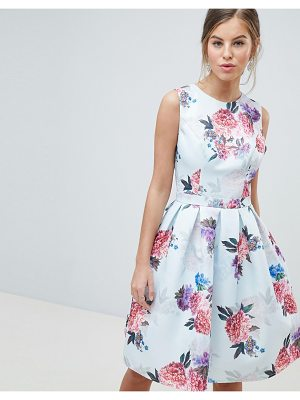 Chi Chi London bow back midi prom dress