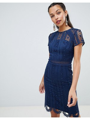 Chi Chi London cap sleeve lace pencil dress