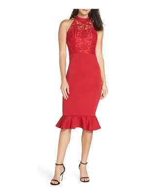 Chi Chi London crochet bodice party dress