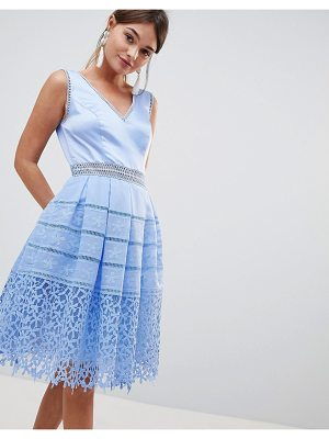 Chi Chi London cutwork lace prom dress