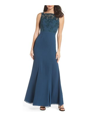 Chi Chi London embroidered bodice gown