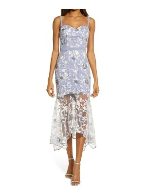 Chi Chi London embroidered lace sleeveless body-con dress