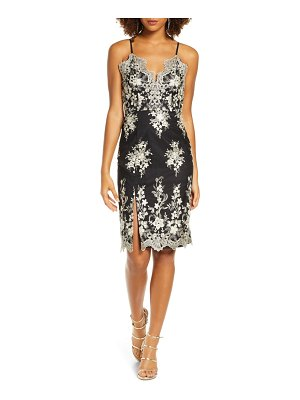 Chi Chi London hally metallic floral embroidered cocktail dress