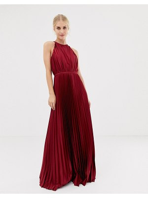 Chi Chi London high neck satin maxi dress
