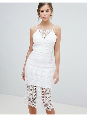 Chi Chi London lace midi dress with v back