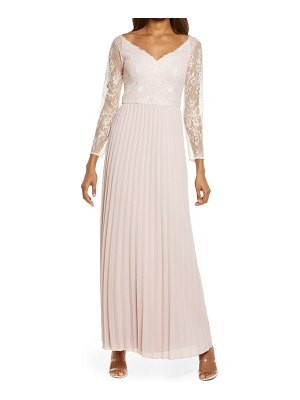 Chi Chi London lace & pleated chiffon bridesmaid gown