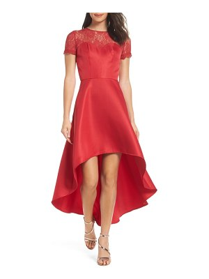 Chi Chi London lace yoke high/low cocktail dress