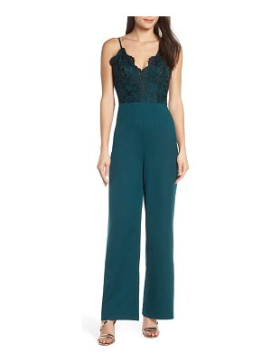 Chi Chi London lauren embroidered bodice jumpsuit