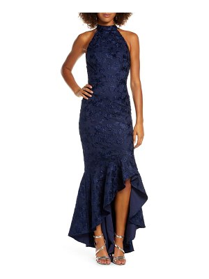 Chi Chi London lucie halter neck high/low evening gown