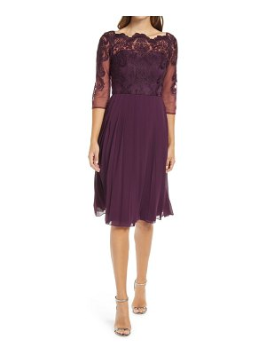 Chi Chi London melina lace bodice fit & flare cocktail dress