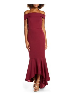 Chi Chi London roz off the shoulder mermaid gown