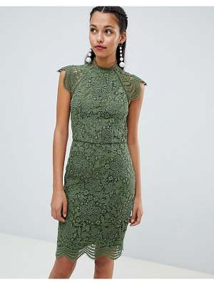 Chi Chi London scallop lace pencil dress